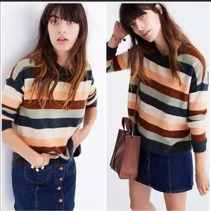 Madewell Elmwood Stripe Multicolored Sweater